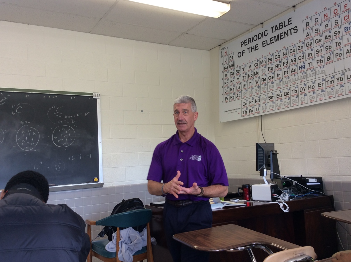 A Chemical Engineer for 31 Years, Mr. O'Connell Transitions to a New Career in Teaching