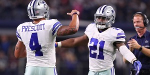 Rookie sensations Dak Prescott (Quarterback #4) and Ezekiel Elliot (Running Back #21). Photo Credit: ProFootballSpot.com