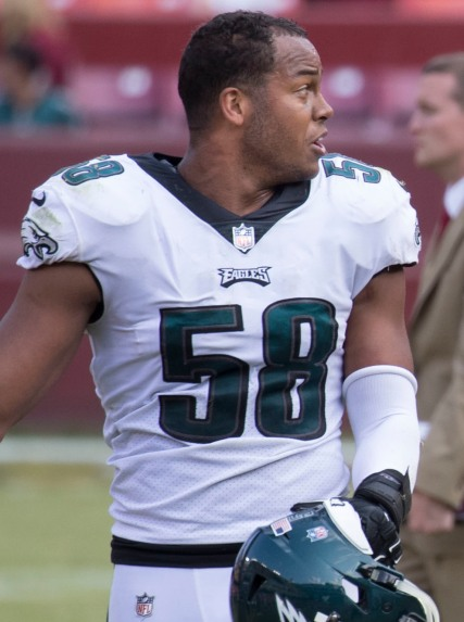 Jordan Hick, Eagles. Photo Courtesy Wikimedia Commons https://commons.wikimedia.org/wiki/File:Jordan_Hicks_2017.jpg