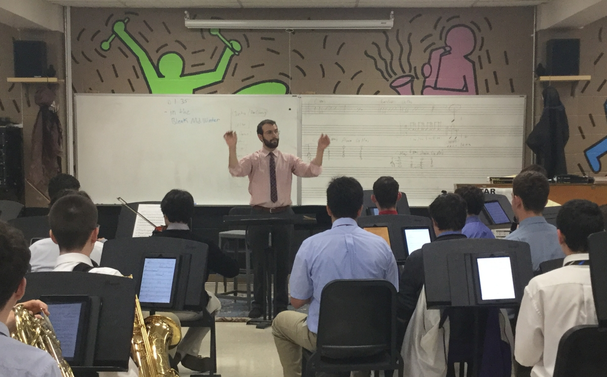 "Mr. Alfieri's advice to aspiring musicians: ""If there's an opportunity, go for it."""